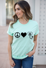 Load image into Gallery viewer, Peace Love Veterinarian Shirt