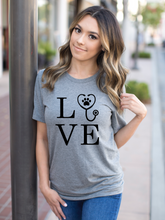 Load image into Gallery viewer, LOVE Veterinarian Shirt