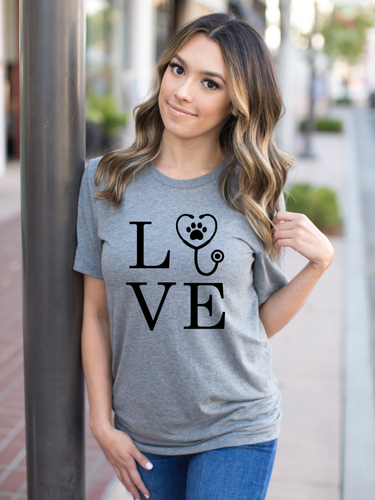 LOVE Veterinarian Shirt