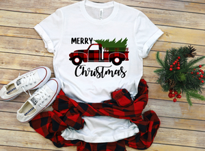 Merry Christmas Red Buffalo Truck Christmas Shirt