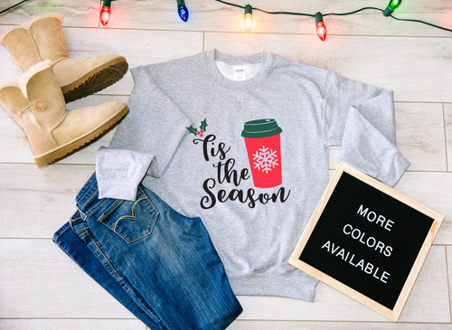'Tis the Season Red Cup Coffee Christmas Sweater