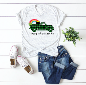 Buffalo Green Truck with Rainbow St Patricks Day Shirt
