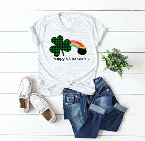 Buffalo Green Shamrock with Rainbow St Patricks Day Shirt