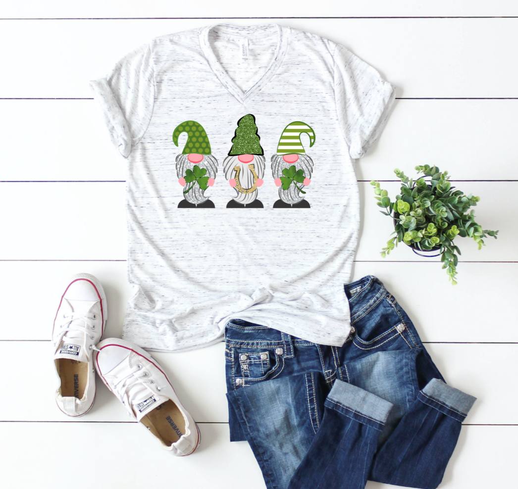 Gnomes with Horseshoe St Patricks Day Shirt