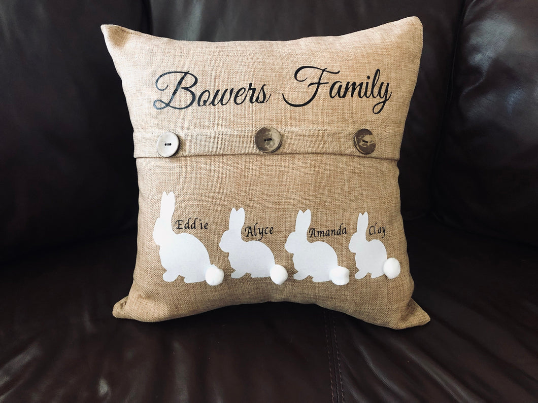 Easter Family Customized Pillow