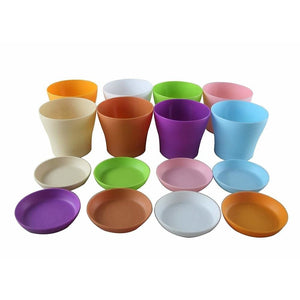 4 Mini Plastic Flower Pots 8pck