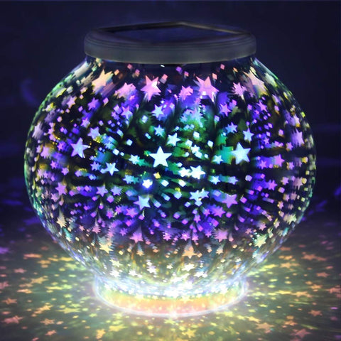 Color Changing Solar Powered Glass Ball LED Garden Light