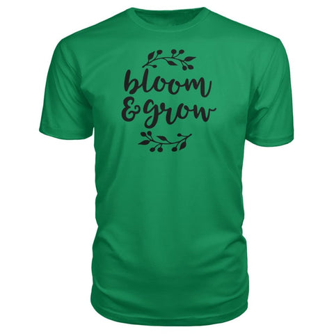 Image of Bloom And Grow Premium Tee - Green Apple / S - Short Sleeves