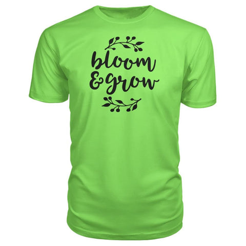 Bloom And Grow Premium Tee - Key Lime / S - Short Sleeves