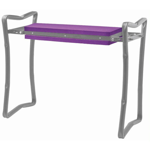 Image of Foldable Garden Bench/Kneeler - Purple - Garden