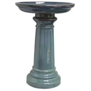 SP Ceramic Bird Bath Light Blu