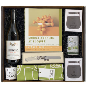 Clutch XL Cook Book Series Lucques Picnic with Barolo