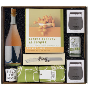 Clutch XL Cook Book Series Lucques Picnic with Poe Ultraviolet Sparkling Rosé