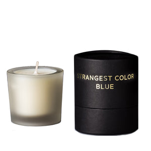 Strangest Color Blue Votive Candle by Tatine