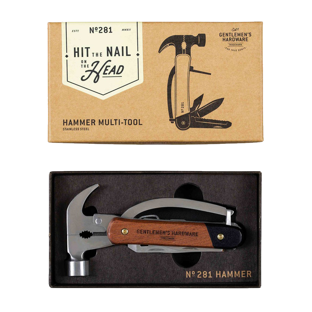 Gentleman's Hardware Hammer Multi-Tool Acacia Wood & Stainless