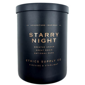 Ethics Supply Company Fireside & Starlight: Starry Night 11oz Candle