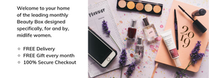 Time of Your Life Beauty subscription box designed for midlife women