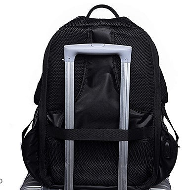 Men's Bags Canvas Backpack Zipper Blue / Light Gray / Dark Grey