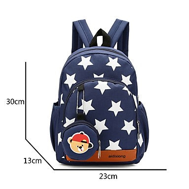 Unisex Bags Nylon Backpack Zipper Red / Dark Blue / Fuchsia