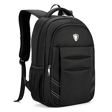 Men's Bags Oxford cloth Backpack Smooth Black