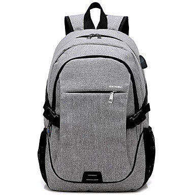 Men's Bags Nylon Backpack Zipper Dark Blue / Gray / Purple