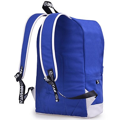 Unisex Bags Backpack Buttons / Zipper for Outdoor Royal Blue