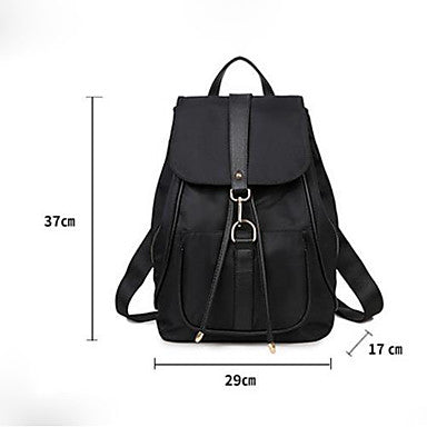 Women's Bags Nylon Backpack Pattern / Print Black