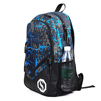 Men's Bags Oxford Cloth Backpack for Outdoor / Traveling Blue / Black / Army Green
