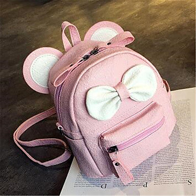 Children's Bags PU Sports & Leisure Bag for Sports Climbing Camping & Hiking Outdoor Professioanl Use All Seasons Black Blushing Pink