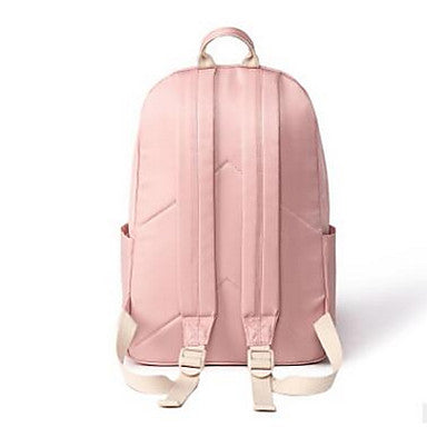 Women's Bags Oxford Cloth Backpack Zipper Black / Blushing Pink