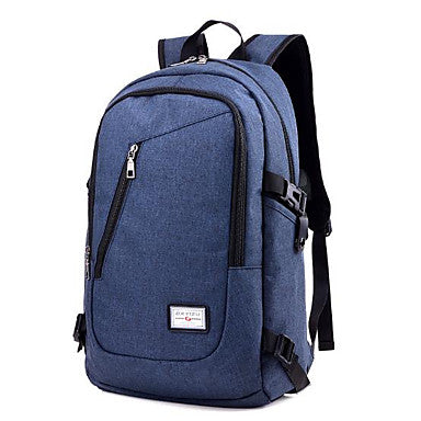 Unisex Bags Nylon Backpack Zipper Black / Dark Blue / Gray