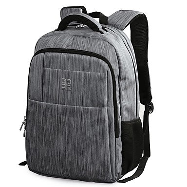 Men's Bags Nylon Backpack Rivet / Zipper Gray / Coffee