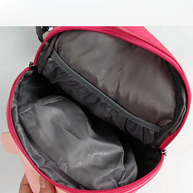 Unisex Bags PU(Polyurethane) School Bag Zipper Black / Blushing Pink