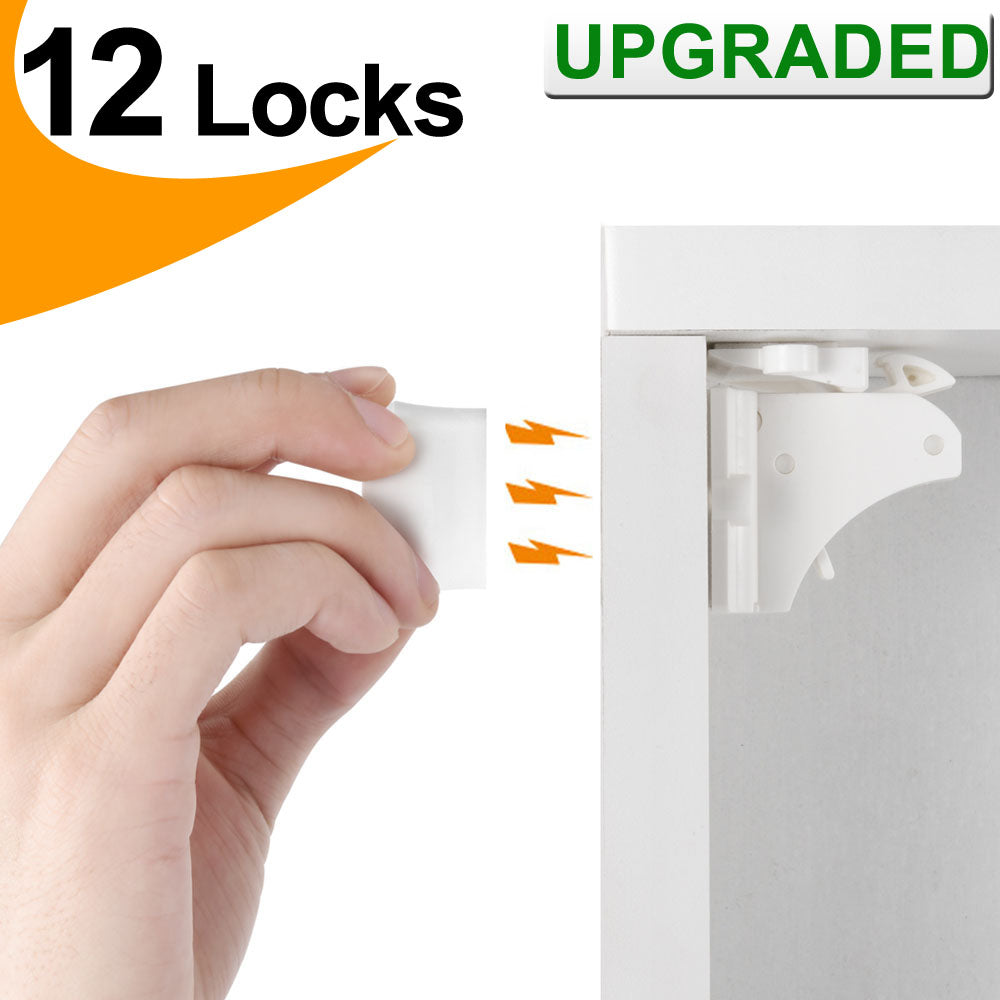 Vmaisi Baby Proofing Magnetic Cabinet Locks 12 Pack