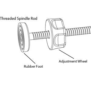 8MM Baby Gate Threaded Spindle Rod, Replacement Hardware