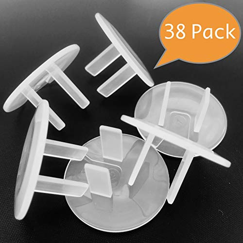 Clear Outlet Covers Baby Proofing - VMAISI 38 Pack Electrical Safety ChildProof Plug Protector - (Clear, 38 Pack)
