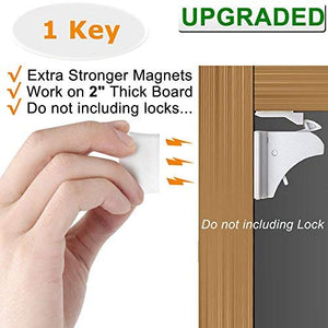 Vmaisi Magnetic Cabinet Locks Replacement Key - 1 pack
