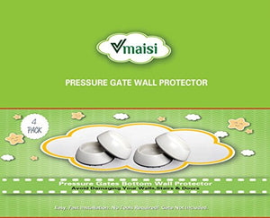 VMAISI 4 Pack Baby Gates Wall Cups  - White