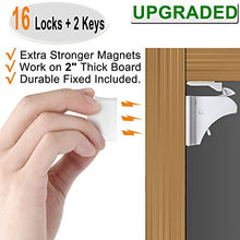 Hibebi Magnetic Child Safety Cabinet Locks - 16 Pack