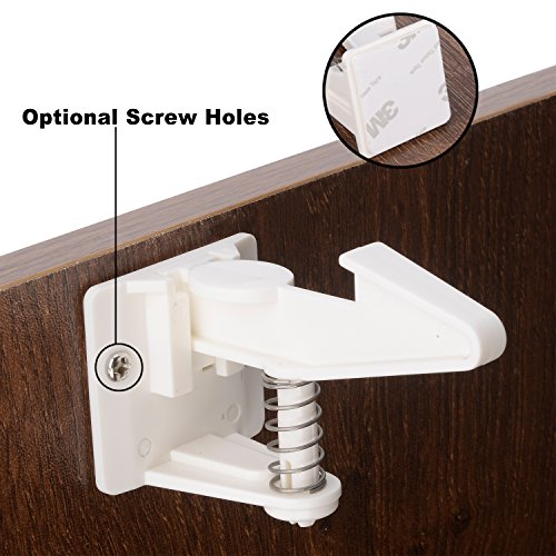 Cabinet Locks Child Safety Latches 12 Pack Baby Proofing