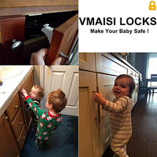 Baby Proofing Magnetic Cabinet Locks - VMAISI 12 Pack Child Safety Locks