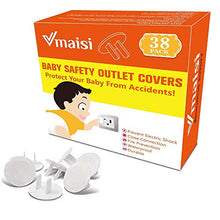 Outlet Covers ChildProof Plug Protector - VMAISI Baby Proofing Electrical Safety Outlet Plugs - (White, 38 Pack)