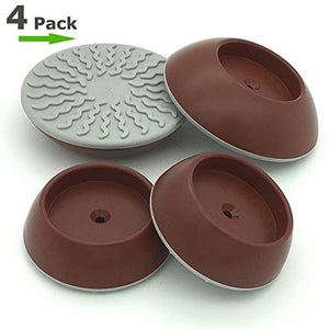Vmaisi 4 Pack Pressure Gates Wall Bumpers Guard - Brown