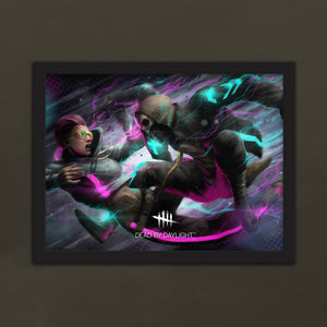 Neon Lights Framed Matte Poster