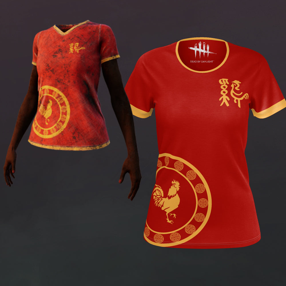 Claudette Fire Rooster Shirt