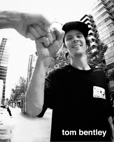 the 4 skateboardcompany amateur skateboarder Tom Bentley Instagram link
