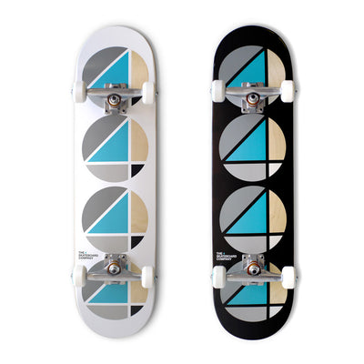 the 4 skateboard company complete skateboards in white teal and black teal