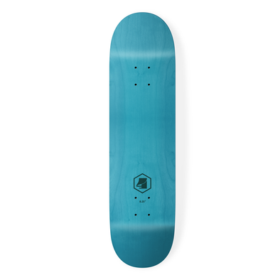 the 4 skateboard company hex lazer series blue skateboard deck