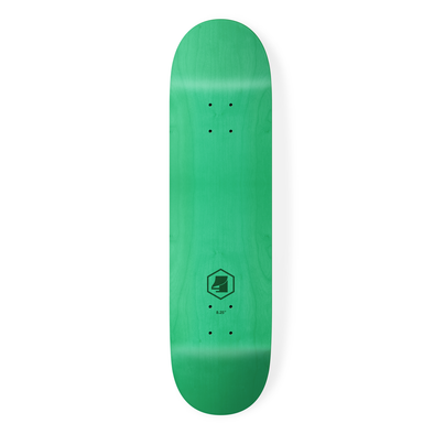 the 4 skateboard company hex lazer series green skateboard deck
