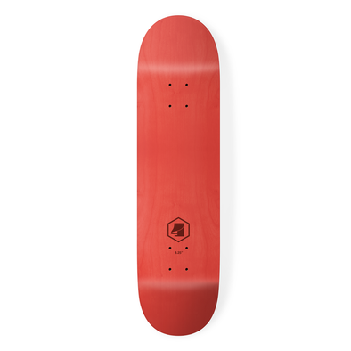 the 4 skateboard company hex lazer series red skateboard deck